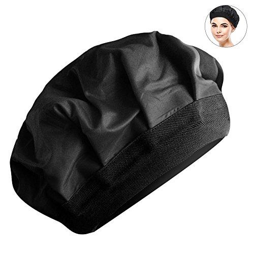 Pretty See Beheizte Gel Gap Praktische Haar Dampfgarer Gel Gap strapazierfähiger Haar Thermische Behandlung Gap, geeignet für Haar-Styling und Haar Thermische Behandlung, schwarz (Cap-haar-dampfer)