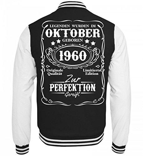 Hochwertige College Sweatjacke - Legenden Oktober Geburtstag 1960 (Jacke Damen 1960 S)