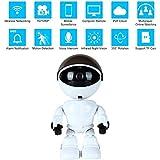Teepao Cámara IP Robot HD 960P Cámara de Seguridad Inalámbrica 1.3MP CMOS Mini Robot Baby