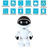 [Aktualisierte Version] IP Roboterkamera HD 960P Drahtlose Überwachungskamera 1.3MP CMOS Mini Roboter Babyphone Pan Tilt Remote Home Security P2P IR Nachtsicht für Mobile Android / IOS und Laptop