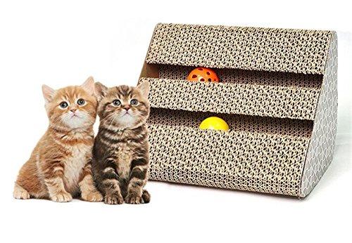 Cat scratch Pad, tiragraffi con erba gatta, tiragraffi, giocattolo gatto che graffia Board Set lounge con bell-ball Cat free Catnip by Ayuboom