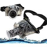 Navitech housse étui étanche pour appareil photo numérique avec lentille extérieure, compatible pour Canon EOS 300D