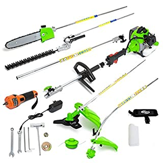 BMC G-Whizz 33c 1HP 2 Stroke Petrol ELECTRIC Start 6in1 Garden Multi Tool Functions As a Brush Cutter, Grass Trimmer, Chainsaw, High Reach Pruner, Hedge Trimmer & High Reach Hedge Pruner - 2 Years Warranty