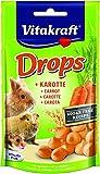 Vitakraft - 25788 - Drops aux carotte pour tous les rongeurs - prenium - 75 g