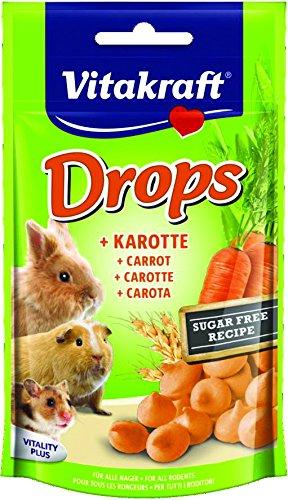 Vitakraft Drops, Mischfuttermittel für alle Nager mit Karotte (1 x 75 g)