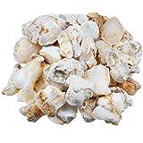mookaitedecor Weißer Opal Rohstück Steine, Mineral Edelsteine für Familie/Büro/Garten/Aquarium...