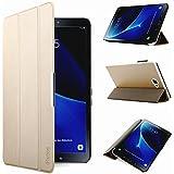 iHarbort® Premium Hülle für Samsung Galaxy Tab A 10.1 (SM-T580/T585) - Samsung Galaxy Tab A 10.1 hülle Etui Schutzhülle Case Cover Holder Stand mit Smart Auto Wake / Sleep-Funktion (Gold)
