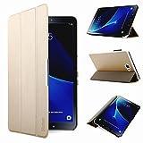 iHarbort® Premium Hülle für Samsung Galaxy Tab A 10.1 (SM-T580/T585) - Samsung Galaxy Tab A 10.1 hülle Etui Schutzhülle Case Cover Holder Stand mit Smart Auto Wake/Sleep-Funktion (Gold)