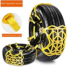 BDSMAGE 2019 Universal Snow Chains for 6 Snow Tyres 165 - 275 mm