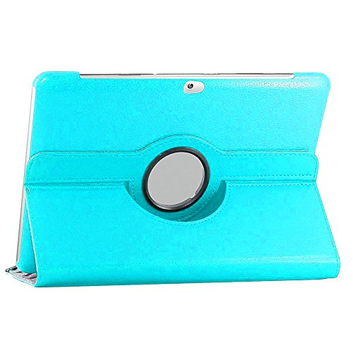ebestStar [Kompatibel mit Samsung Galaxy Tab 2 10.1 Hülle [GT-P5110 P5100: 256.6 x 175.3 x 9.7mm, 10.1''] Rotierend Schutzhülle Etui, Schutz Hülle Ständer Rotating Case Cover Stand, Blau