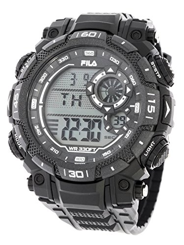 Fila sportliche Herrenuhr Digital 10 BAR Licht Alarm 38-826-003