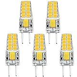 Bonlux 3W G6.35 LED Birne Bi-Pin Warmweiß 3000K AC/DC 12V 2-Stifte Glühlampe für Schreibtischlampe, Landschaftsbeleuchtung, Dekoration (5-Stück)