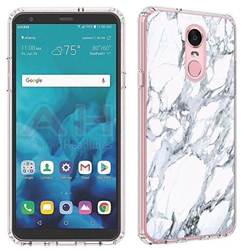LG Stylo 4Fall (klar) paletteshield Flexible Slim TPU Haut Phone Cover (passgenau LG Stylo 4/F Stift) Designs FBA1, IM111 -