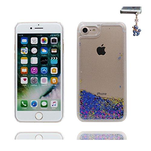 iPhone 7 Custodia, Bling Glitter ultra sottile, Case iPhone 7 Copertura 4.7 pollici, Shock Dust Resistant Shell Cover & tappi antipolvere blu Bling COLOR 5
