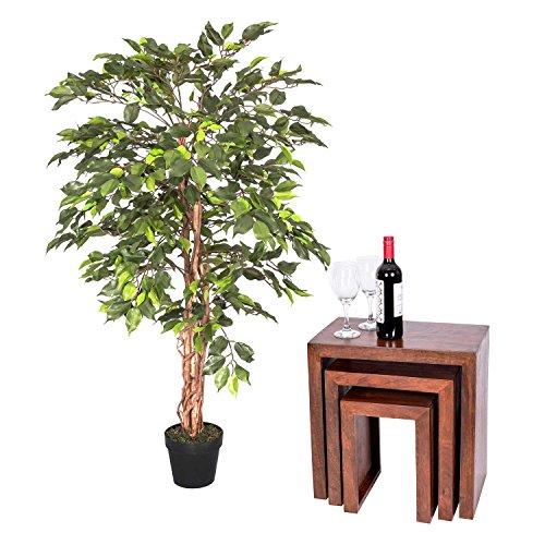 Homescapes 4 Feet Green Ficus Tr...