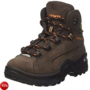 Lowa Renegade II GTX MID Junior, Stivali da Escursionismo Unisex – Bambini, Marrone (Braun/Orange), 27 EU