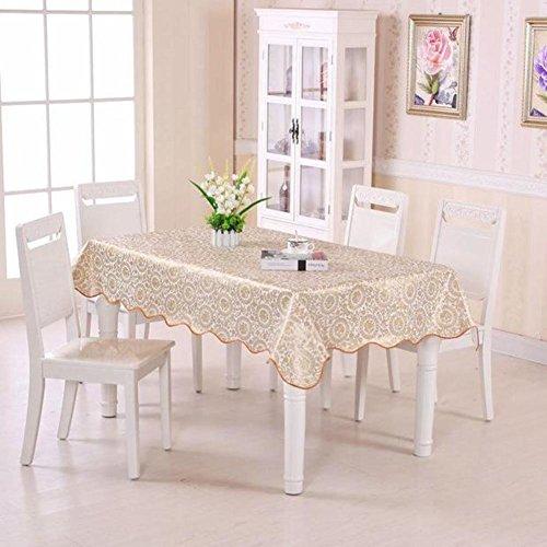 Runden Esstisch 60 Zoll (Europäischer stil Luxus Kunststoff tischdecken rechteck, Tischtuch Wasserdicht Ölbeweis Einweg Tisch-abdeckung Schweres gewicht Für home küche-E 105x152cm(41x60inch))