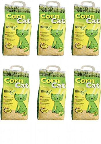 CC1 72lt CORN CAT novice techno sable litière BIOLOGIQUE avec des matières végétales très délicates pour les chats.
