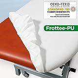 PU-Frottee Liegen-Spannbezug PRO SELECT für die Behandlungsliege, Therapie- oder Kosmetikliege, 70x190x10 cm, 1 Stück, weiss, OEKO-TEX-geprüft, ORIGINAL Dr. Güstel Waschfaserlaken PRO SELECT Schonbezug