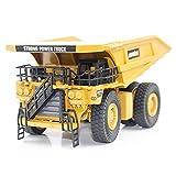 HUINA JUGUETES NO.1912 1/40 Aleaciones de minería de camiones Camiones de fundición de metal Ingeniería Modelo de vehículo de construcción para niños Juguetes