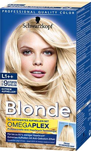 Schwarzkopf Blonde Aufheller L1++ Extrem Plus Haarentfärber, Stufe 3, 3er Pack (3 x 143 ml) (Braune Haare Färben Spray)
