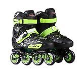HYM Pattini a rotelle Quad Roller Skate Regolabili Inline Ruote Dimensioni delle Scarpe per Ragazze Ragazzi Rollerblades e Signore Outdoor Indoor/Taglia 36-43 per la Selezione,Black,40