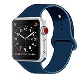 ZRO für Apple Watch Armband, Soft Silikon Ersatz Uhrenarmbänder für 38mm iWatch Serie 3/ Serie 2/ Serie 1, Größe M/L, Ozean-Blau