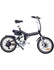 Cyclamatic Pro CX4 Dual Suspension Foldaway Electric Bike - Black