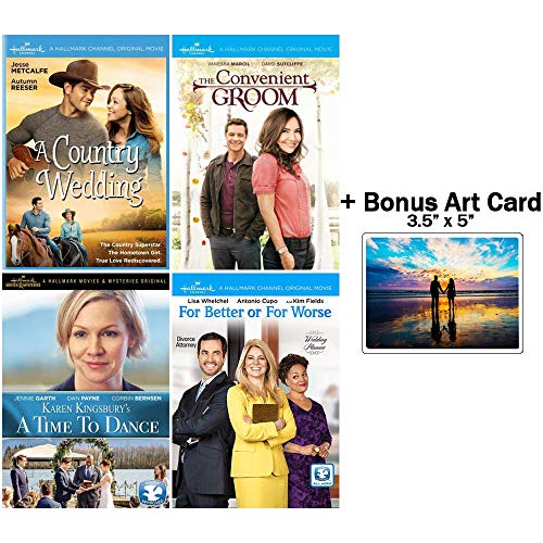The Hallmark Channel Wedding Collection: 4 Movies (A Country Wedding / The Convenient Groom / A Time To Dance / For Better Or For Worse) + Bonus Art Card