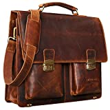 STILORD Vintage Aktentasche Leder Braun Businesstasche 15
