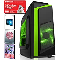 ADMI ULTRA FAST GAMING PC : AMD A8-7650K 4.2GHz Quad Core, Radeon R7 Integrated Graphics, 1TB Hard, 8GB RAM, Wifi, F3 Gaming Case, Windows 10