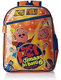 Motu Patlu Blue and Orange Children's Backpack (Age group :8-12 yrs)
