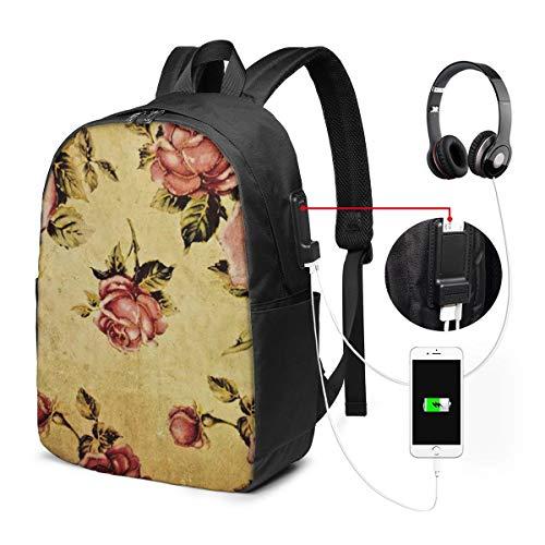 Rose mit dramatischen Farben Boho Rucksack Tasche für Kinder Jungen Mädchen Teens Geburtstag, Geschenk String Bag Gym für Schule und Party 17 Zoll -