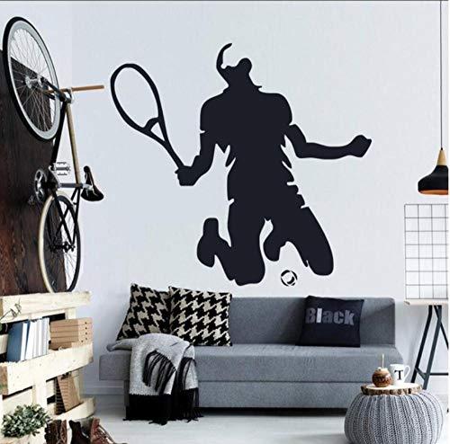 Wandaufkleber,Badminton 56x60cm Diy entfernbare wandaufkleber kunst für abziehbilder wandbilder bad aufkleber uhr küche vinyl transfer