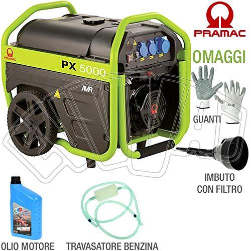 Pramac px5000 - generatore di corrente 230v gruppo elettrogeno portatile con ruote