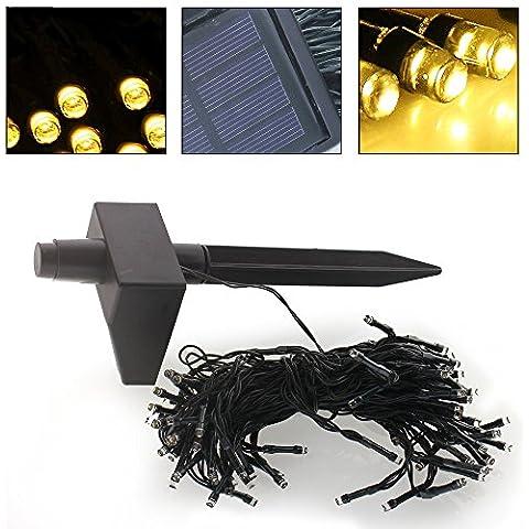 Mengjay® 1 pezzi 100-LEDs stringa solare illumina Flower Garden all'aperto di 17 metri, luci di (Dragonfly Crema)