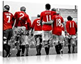 Manchester United Legends Football Canvas Wall Art Picture Print (36X24)