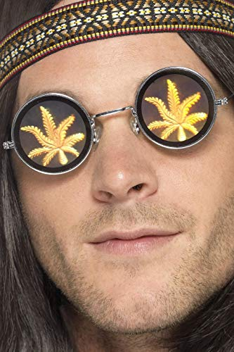 Weed Sonnenbrille - Smiffys 41578 - Holographic Marihuana