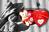#7: Efnito Unique Valentine day gift for Wife | Special Valentine's day gift for Lover | Valentine's day gift for Lover | Valentine day gift for Wife (Heart shaped Box with Teddy and Roses) (Color may vary)