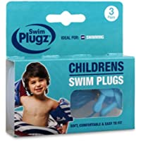 6 Pairs Of Childs Silicone Swimming Push In Ear Plugs & Safety Cord - Comes With TCH Anti-Bacterial Pen!