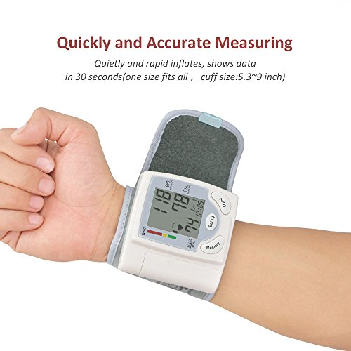 Wrist Blood pressure Monitor Fully Automatically gauge with the help of Digital LCD display screen display display screen for Blood pressure and Heart Beat Sports Outdoors