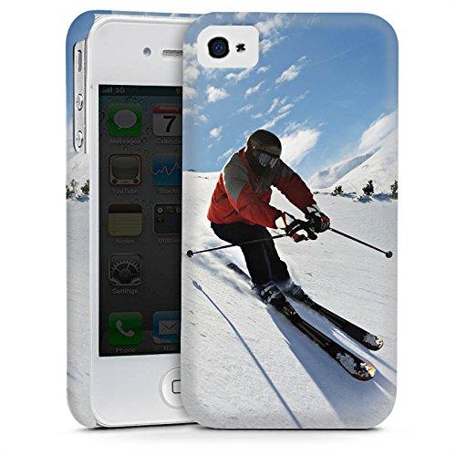 Apple iPhone 6 Housse Étui Silicone Coque Protection Ski Neige Soleil Cas Premium mat