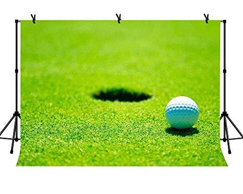 een Hintergrund Putting Green Golf Ball Loch Hintergrund für Golf Party Ideen Geburtstag Dessert Tisch Dekor Studio Fotografie ()