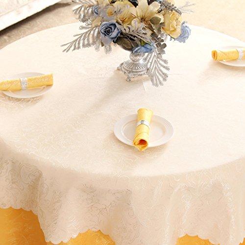 BSNOWF- Nappes Activités Lieu Stand d'exposition Hôtel Nappe de table Banquet Réunion de mariage Nappe ronde grande Tissu de fibre chimique Style européen Taille En option ( Couleur : D , taille : Round-340cm )