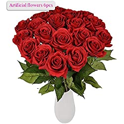 Ramo rosas artifical en rojo