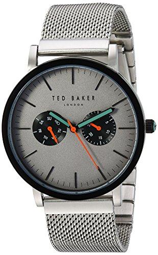 Ted Baker London Herren analog Japanischer Quarz Uhr mit Edelstahl Armband 10031187