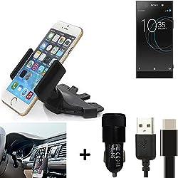 K-S-Trade® Top Set para Sony Xperia XA1 Ultra Dual Soporte Ranura de CD Smartphone Coche para los Dispositivos de navegación/teléfonos Inteligentes Montaje de la Radio Hecho Smartphone teléfono