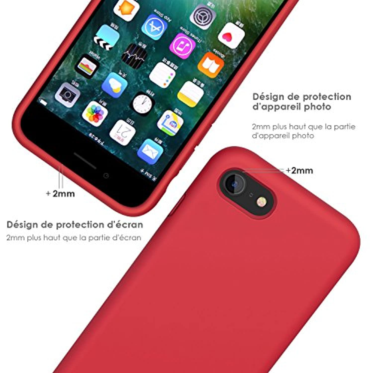 jasbon coque iphone 8 the vert