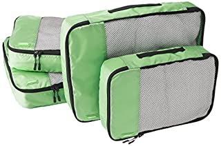 AmazonBasics Lot de 4 sacoches de rangement pour bagage 2 x Taille M/2 x Taille L, Vert (B014VBIQ18) | Amazon price tracker / tracking, Amazon price history charts, Amazon price watches, Amazon price drop alerts
