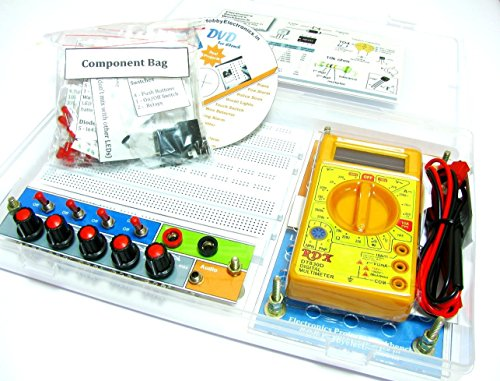 Advance circuit trainer workbench electronics kit with Ebook, 50 projects 120 parts